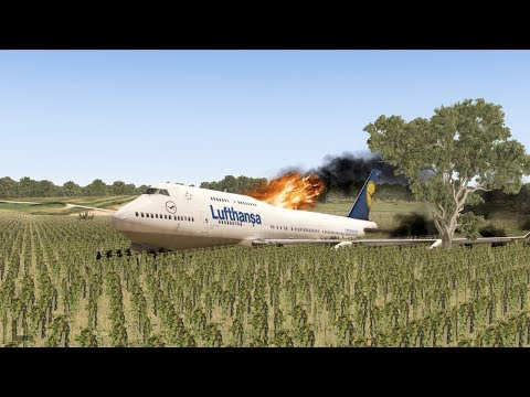Plane Crashes On A FARMING FIELD - X-Plane 11
