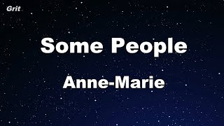 Some People - Anne-Marie Karaoke 【With Guide Melody】 Instrumental