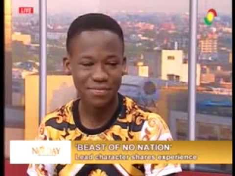 NewsDay - Upclose with lead character in beast of no nation movie  - 27/11/2015