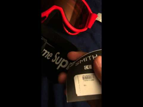 Supreme Smith Cariboo OTG Ski Goggle Snowboarding 100% Authentic Quick Review 2015