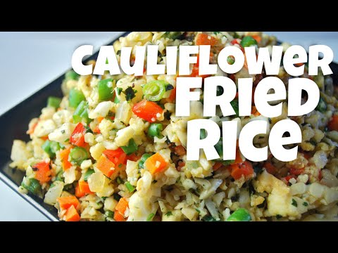 Video Low Carb Cauliflower Recipe: Cauliflower Fried Rice - chicken recipes - healthy meals - dinner ideas