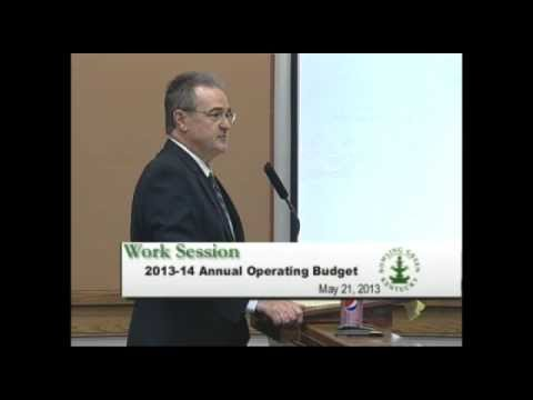 5/21/13 Board of Commissioners Work Session