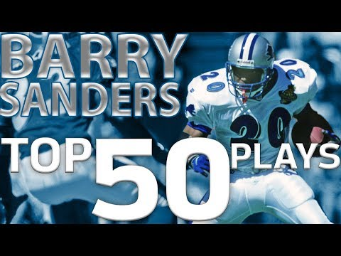 Barry Sanders Top 50 Most Ridiculous Plays of All-Time | NFL Highlights
