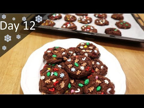Triple Chocolate Chip Christmas Cookies | Baking Advent Calendar | Day 12
