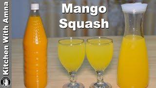 Perfect Mango Squash Recipe - Homemade Mango Squash - Kitchen With Amna