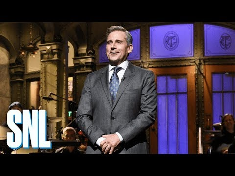 Steve Carell Returns to SNL Monologue w/The Office Cast Members