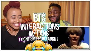 BTS Funny Interactions with Fans - Try Not To Laugh/Smile - IMPOSSIBLE CHALLENGE!! | REACTION!!