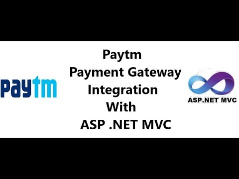 Paytm payment gateway Integration with ASP .NET MVC