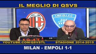 preview picture of video 'QSVS - I GOL DI MILAN - EMPOLI 1-1  - TELELOMBARDIA'