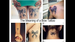 The Meaning Of A Bow Tattoo - Facts About Drawing And Photo Examples For The Site Tattoovalue.net
