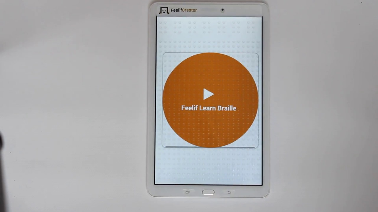 poglej video Learning Braille with Feelif app