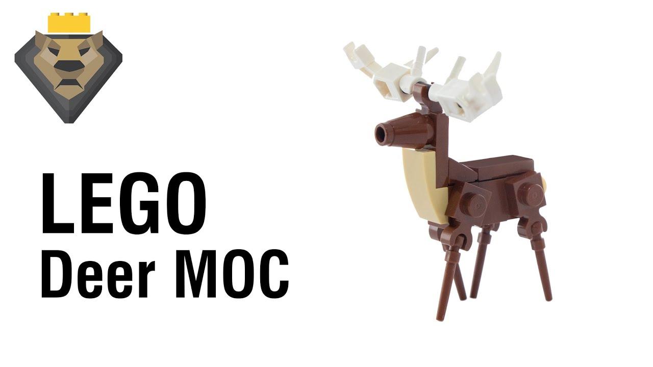 LEGO Deer/Stag MOC & Tutorial