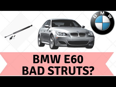 Bmw e60 hood strut replacement 525i 528i 530i 535i 545i 550i m5