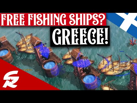 Free Fishing Ships?! Greece in Age of Empires 3!! | Classic & Casual