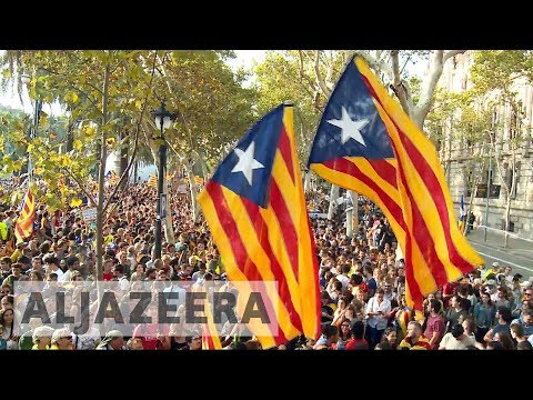 Catalonia protesters demand release of prisoners