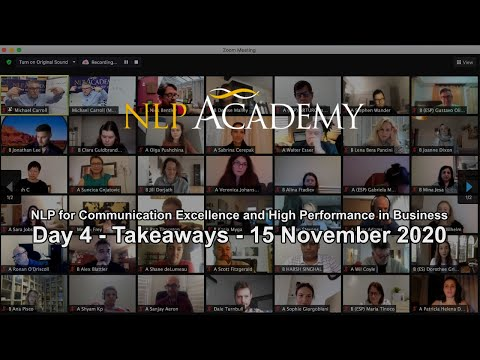 Day 4 - Takeaways - NLP for Communication Excellence and High Performance in Business