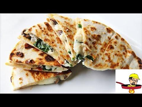 Video Spinach, Sundried Tomatoes & Mushroom Quesadillas