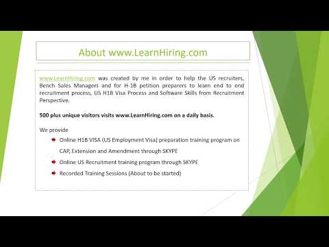 Individual / Corporate US IT Recruiter Training Course - YouTube