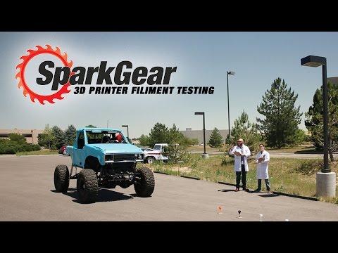 SparkGear 3D Printer Fillament Test!