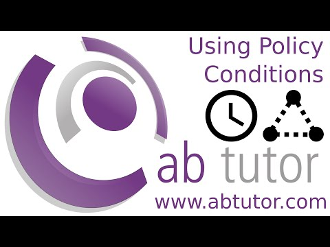 Setting policy conditions in AB Tutor