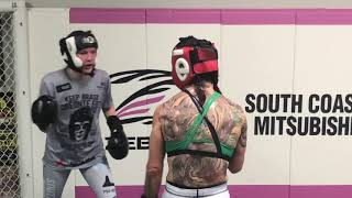 Cris Cyborg sparring ahead of super fight at UFC 232