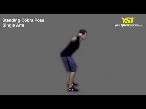 126 Standing Cobra Pose Single Arm