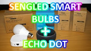 Sengled Smart RGB LED bulbs + Hub with Echo dot.
