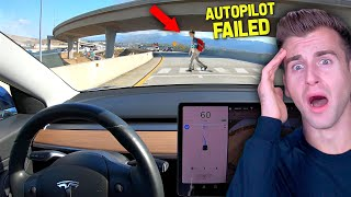 Tesla Autopilot Doesn't Detect Object On The Road...(UH OH)