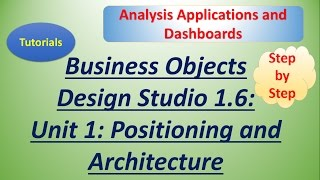 BusinessObjects Design Studio 1.6: Unit 1: Tutorial: Positioning and Architecture