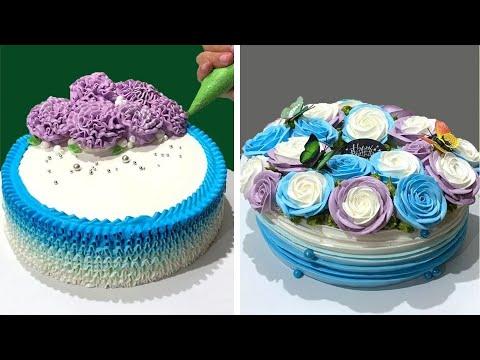 Tutorial de decorao de bolos incrvel e divertido para iniciantes  ideias de decorao de bolo