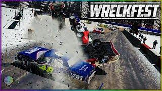 NASCAR RALLYCROSS WRECKING!   Wreckfest