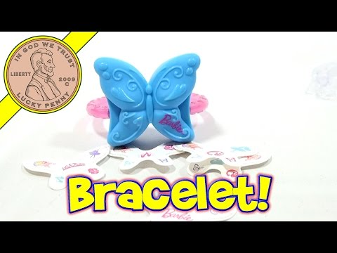 Barbie in The Pink Shoes #4 Barbie Butterfly Bracelet - 2013 McDonald's Happy Meal Toy Review