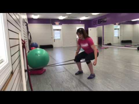Superset Sissy Squat with Single Arm Band Row