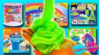 Testing 8 kits to make Slime (Elmer's, Nickelodeon and Poopsie)  - Supermanualidades