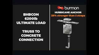 Hurricane Anchor for ICF Concrete Connection to Truss/Rafter - details and downloads