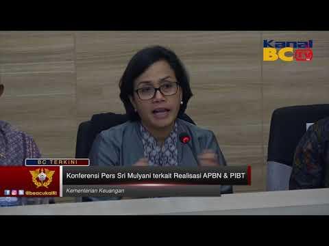 Konferensi Pers Sri Mulyani terkait Realisasi APBN & PIBT