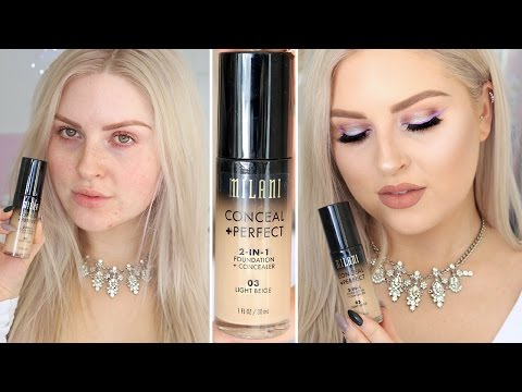 Milani 2 in 1 Foundation & Concealer ♡ First Impression Review
