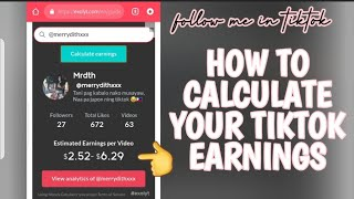 HOW TO CALCULATE YOUR TIKTOK EARNINGS