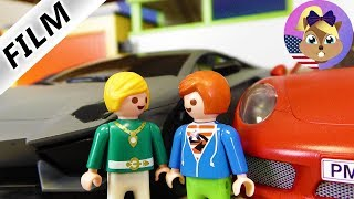 Playmobil Film English | LAMBORGHINI VS PORSCHE - Richmond vs Julian | Kids Series Smith Family