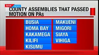 County Assemblies that has passed motion on PAs