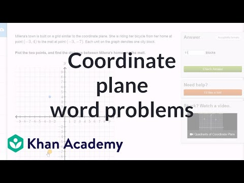 Coordinate plane word problem examples (video) | Khan Academy