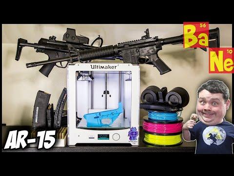 3D Printing Assault Rifle on Desktop 3D Printer using Plastic Material