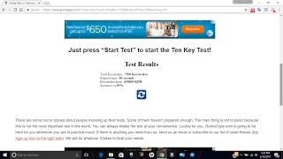 10-Key typing test HACK