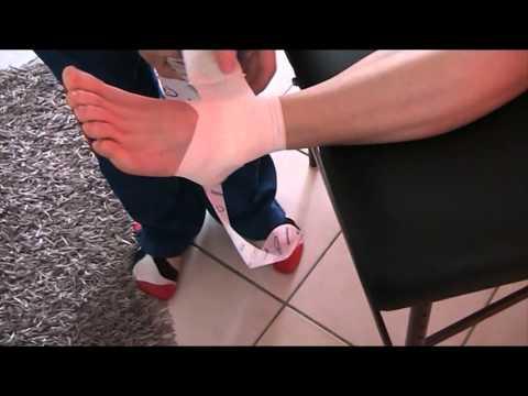 Vidéo ouzi des veines des pieds