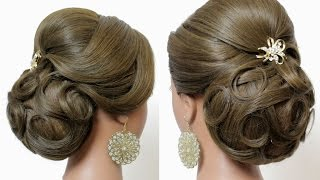 Indian Wedding Hairstyles  Tutorial. Bridal Updo For Long Hair