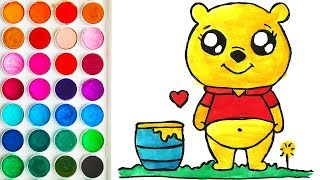 Coloring for Baby with Bear, Learn Colors for Babies