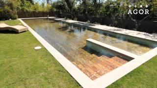 Zwembad en terras in één