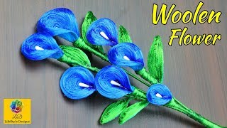 DIY Silk Thread Woolen Flowers   Handmade Woolen Flower Crafts - Home Decoration Idea