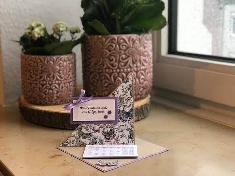 Aufstellkalender Schmetterlingsglück mit Produkten von Stampin' Up!