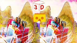 3D Wooden Roller Coaster  VR Videos 3D SBS 5.1 Sound [Google Cardboard VR Experience] VR Box